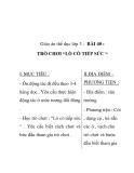 """Giáo án thể dục lớp 3 - BÀI 40 : TRÒ CHƠI """"LÒ CÒ TIẾP SỨC """""""