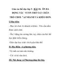 Giáo án thể dục lớp 5 - BÀI 18: ÔN BA ĐỘNG TÁC VƯƠN THỞ TAY CHÂN TRÒ CHƠI