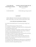 Quyết định số 38/2011/QĐ-UBND