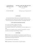 Quyết định số 26/2011/QĐ-UBND