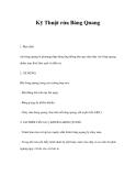 Kỹ Thuật rửa Bàng Quang