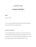 U XƠ TỬ CUNG (UTERINE FIBROIDS) - Phần I