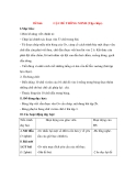 Giáo án Chính Tả lớp 3: Đề bài: CẬU BÉ THÔNG MINH (Tập chép).