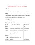 Giáo án Chính Tả lớp 3: Đề bài: NGHE - VIẾT: HŨ BẠC CỦA NGƯỜI CHA