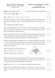 Đề kiểm tra tuyển sinh vào lớp 6 môn: Toán thời gian làm bài 45 phút
