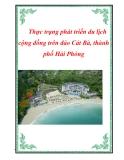 Đề tài: Thực trạng phát triển du lịch cộng đồng trên đảo Cát Bà thành phố Hải Phòng