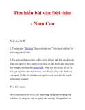Tìm hiểu bài văn Đời thừa - Nam Cao_1
