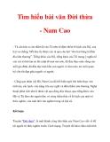 Tìm hiểu bài văn Đời thừa - Nam Cao_2