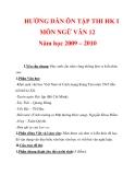 HƯỚNG DẪN ÔN TẬP THI HK I MÔN NGỮ VĂN 12 Năm học 2009 – 2010_1