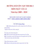 HƯỚNG DẪN ÔN TẬP THI HK I MÔN NGỮ VĂN 12 Năm học 2009 – 2010_3