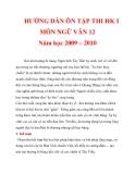 HƯỚNG DẪN ÔN TẬP THI HK I MÔN NGỮ VĂN 12 Năm học 2009 – 2010_4