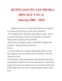 HƯỚNG DẪN ÔN TẬP THI HK I MÔN NGỮ VĂN 12 Năm học 2009 – 2010_5
