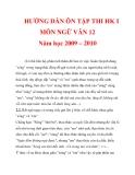 HƯỚNG DẪN ÔN TẬP THI HK I MÔN NGỮ VĂN 12 Năm học 2009 – 2010_6