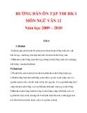 HƯỚNG DẪN ÔN TẬP THI HK I MÔN NGỮ VĂN 12 Năm học 2009 – 2010_8