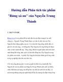 """Hướng dẫn Phân tích tác phẩm """"Rừng xà nu"""" của Nguyễn Trung Thành_1"""