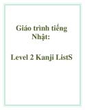 Giáo trình tiếng Nhật: Level 2 Kanji ListS