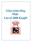 Giáo trình tiếng Nhật: List of 1000 KanjiS