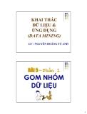DATA MINING AND APPLICATION: GOM NHÓM DỮ LIỆU