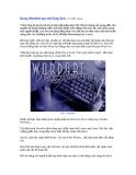 Dùng WordArt tạo chữ lồng ảnh