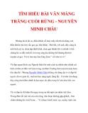 TÌM HIỂU BÀI VĂN MẢNG TRĂNG CUỐI RỪNG - NGUYỄN MINH CHÂU_3