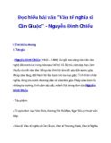 """Đọc hiểu bài văn """"Văn tế nghĩa sĩ Cần Giuộc"""" - Nguyễn Đình Chiểu"""