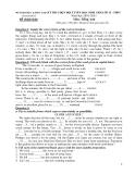 Đề thi HSG cấp tỉnh lớp 12 môn Anh