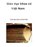 Giáo dục khoa cử Việt Nam  Giáo dục khoa cử thời Mạc