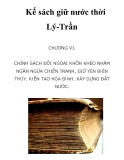 Kế sách giữ nước thời Lý-Trần