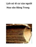 Lịch sử di cư của người Hoa vào Đàng Trong