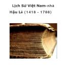 Lịch Sử Việt Nam-nhà Hậu Lê (1418 - 1788)  _2