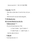 Giáo án toán lớp 5 - Tiết 130: VẬN TỐC
