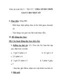 Giáo án toán lớp 5 - Tiết 127: CHIA SỐ ĐO THỜI GIAN CHO MỘT SỐ