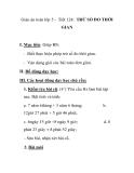 Giáo án toán lớp 5 - Tiết 124: TRỪ SỐ ĐO THỜI GIAN