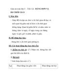 Giáo án toán lớp 5 - Tiết 122: BẢNG ĐƠN VỊ ĐO THỜI GIAN