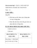 Giáo án toán lớp 5 - Tiết 58 : NHÂN MỘT SỐ THẬP PHÂN VỚI MỘT SỐ THẬP PHÂN