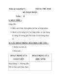 Giáo án toán lớp 5 -  Tiết 52: TRỪ HAI  SỐ THẬP PHÂN