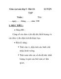 Giáo án toán lớp 5 - Bài 23: LUYỆN TẬP
