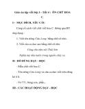 Giáo án tập viết lớp 3 - Tiết 4 : ÔN CHỮ HOA