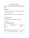 Giáo án tập làm văn lớp 3 - Đề bài: KỂ VỀ GIA ĐÌNH - ĐIỀN VÀO GIẤY TỜ IN SẴN
