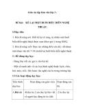 Giáo án tập làm văn lớp 3 - Đề bài: KỂ LẠI MỘT BUỔI BIỂU DIỄN NGHỆ THUẬT