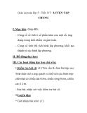 Giáo án toán lớp 5 - Tiết 117: LUYỆN TẬP CHUNG