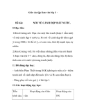 Giáo án tập làm văn lớp 3 -  Đề bài: NÓI VỀ CẢNH ĐẸP ĐẤT NƯỚC.