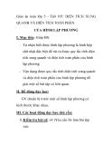 Giáo án toán lớp 5 - Tiết 107: DIỆN TÍCH XUNG QUANH VÀ DIỆN TÍCH TOÀN PHẦN CỦA HÌNH LẬP PHƯƠNG