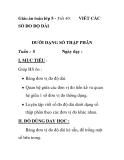 Giáo án toán lớp 5 - Tiết 40: SỐ ĐO ĐỘ DÀI  VIẾT CÁC  DƯỚI DẠNG SỐ THẬP
