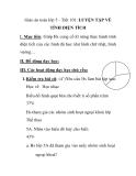 Giáo án toán lớp 5 - Tiết 101: LUYỆN TẬP VỀ TÍNH DIỆN TÍCH