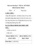 Giáo án toán lớp 5 - Tiết 36 : SỐ THẬP PHÂN BẰNG NHAU