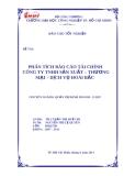 Luận văn đề tài : Phân tích báo cáo tài chính công ty TNHH sản xuất - thương mại - dịch vụ Hoài Bắc