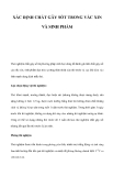 XÁC ĐỊNH CHẤT GÂY SỐT TRONG VẮC XIN VÀ SINH PHẨM