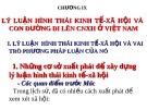 CHƯƠNG IX  LÝ LUẬN HÌNH THÁI KINH TẾ-XÃ HỘI VÀ CON ĐƯỜNG ĐI LÊN CNXH Ở VIỆT NAM