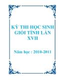 Tuyển tập đề thi học sinh giỏi môn Anh lớp 12 năm 2010 - 2011